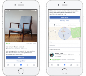 Social update - Facebook Marketplace