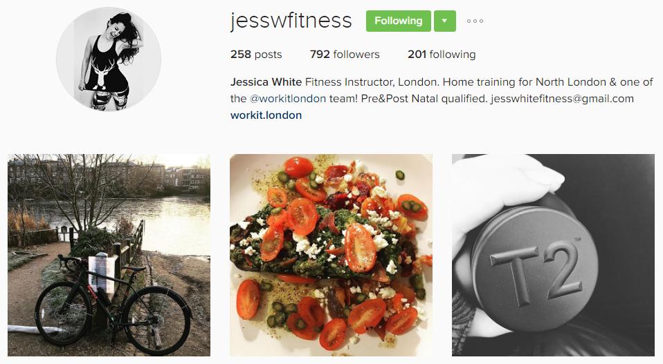 Jess W Fitness - Instagram Fitness Industry