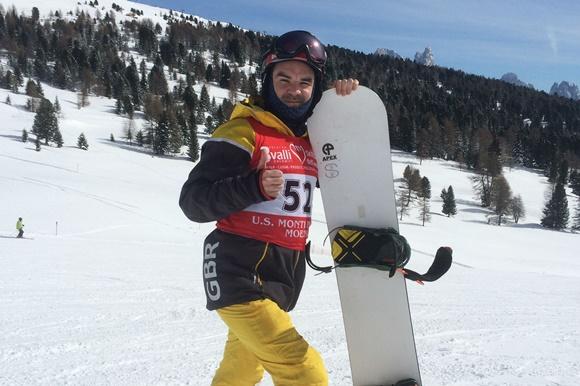 Snowboarder Gary Bartlett