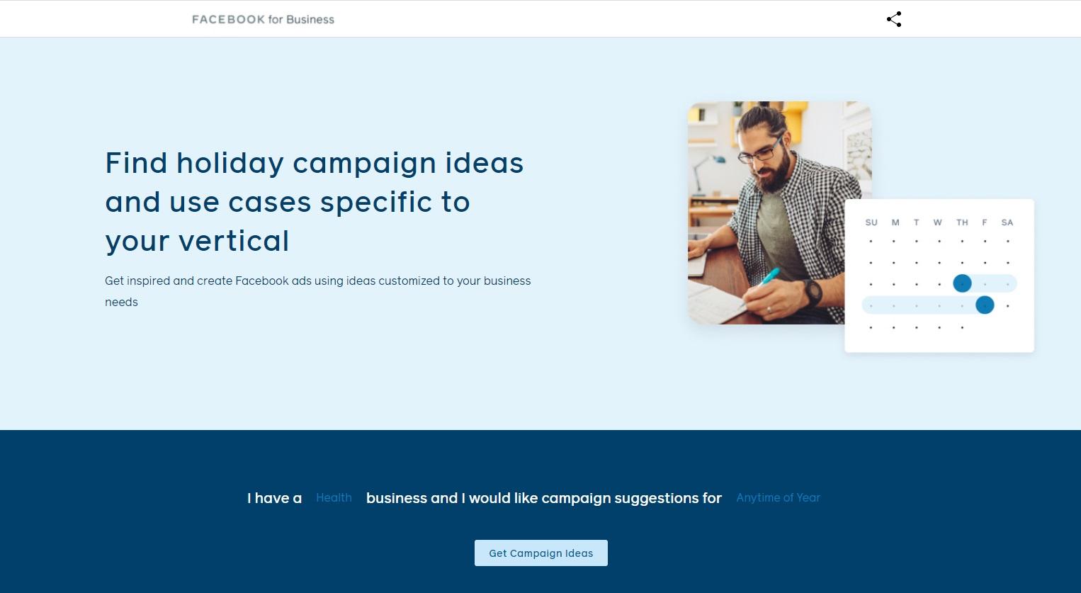 Facebook's Campaign Ideas Generator